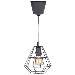 Lampa wisząca sufitowa retro 1XE27 czarna loft