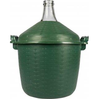 Balon do wina 15l w zielonym koszu plastikowym BROWIN
