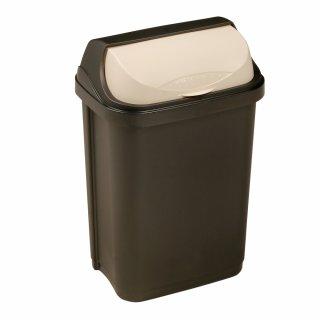 Kosz na śmieci z odchylaną pokrywą 10 L grafitowy KEEEPER