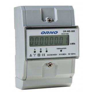 3-fazowy wskaźnik zużycia energii elektrycznej