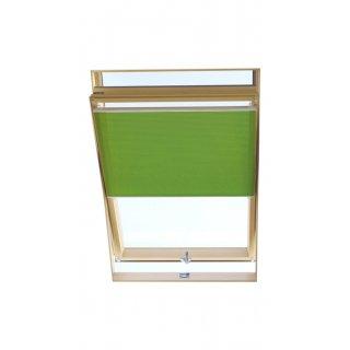 Roleta dachowa plisa zielony 44 cm DECORA
