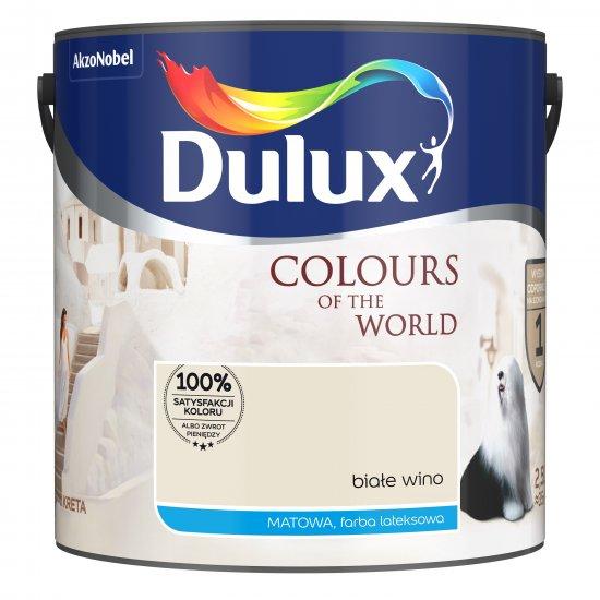 Farba do wnętrz Białe Wino 2,5L Kolory świata DULUX