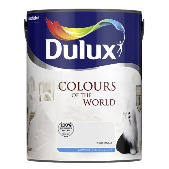 Farba do wnętrz Białe Żagle 5L Kolory świata DULUX