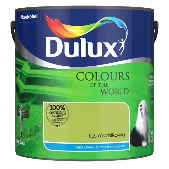 Farba do wnętrz Las Równikowy 2,5L Kolory świata DULUX