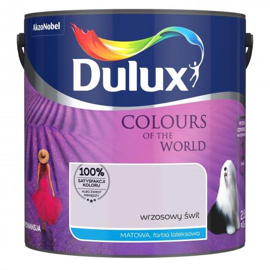 Farba do wnętrz Wrzosowy świt 2,5L Kolory świata DULUX