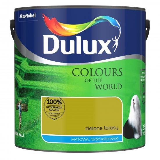 Farba do wnętrz Zielone Tarasy 2,5L Kolory świata DULUX