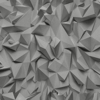 Tapeta winylowa na flizelinie szare origami 10 mb POLAMI