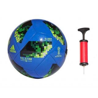 Zestaw piłka nożna Adidas Glider CE8100+ pompka MARKARTUR