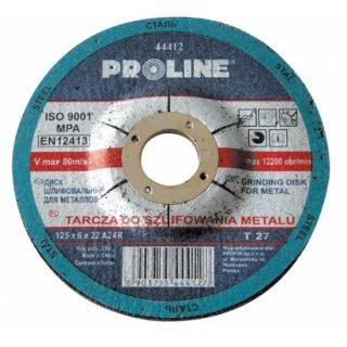 Tarcza do szlifowania metalu 125x6.0x22 PROFIX
