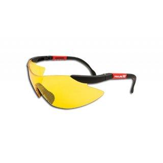 Okulary ochronne zółte regulowane PROFIX