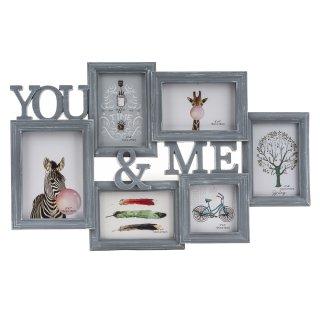 Ramka na zdjęcia kolaż You&Me szara EM&EM