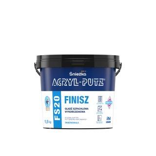 Gotowa masa szpachlowa Acryl Putz FS20 1,5 kg ŚNIEŻKA