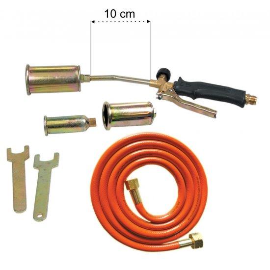 Palnik z dyszami 25 35 50mm wąż 2m PROFIX