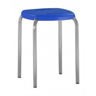 Taboret kuchenny metal + PCV niebieski NOWY STYL