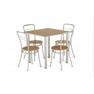 Zestaw mebli kuchennych stół +  4 krzesła 80x80 cm buk