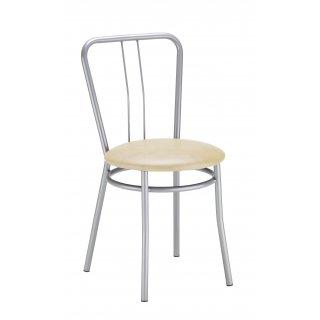 Krzesło kuchenne kolor beż ALBA ALU NOWY STYL