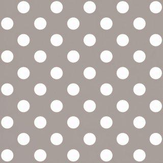 Tapeta papierowa beżowo białe kropki 10 mb POLAMI