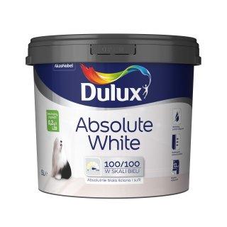Farba do malowania ścian i sufitów Absolute White 5l DULUX