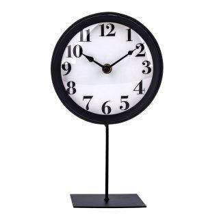 Zegar stojący 16x10x27,5 czarno-biały EM&EM