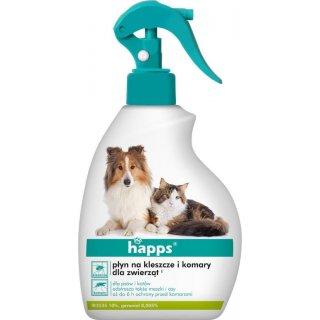 Preparat na kleszcze i komary dla zwierząt 200 ml HAPPS