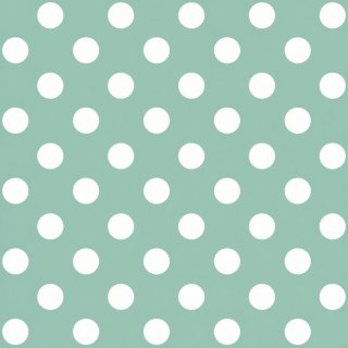 Tapeta papierowa miętowo białe kropki 10 mb POLAMI