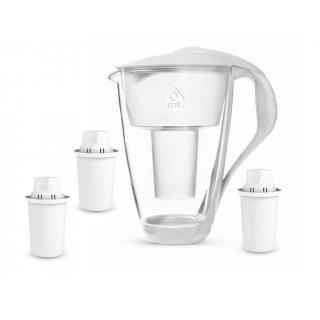 Dzbanek filtrujący szklany + 3 wkłady filtrujące DAFI