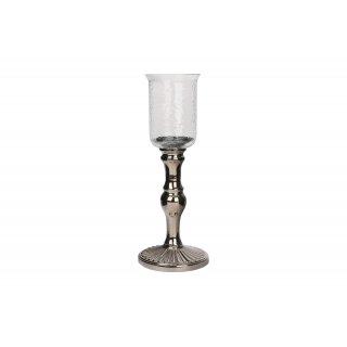 Świecznik w kolorze srebrnym 41 cm