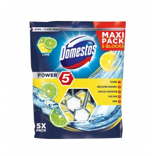 Kostki do Wc Power5 cytrynowe DOMESTOS