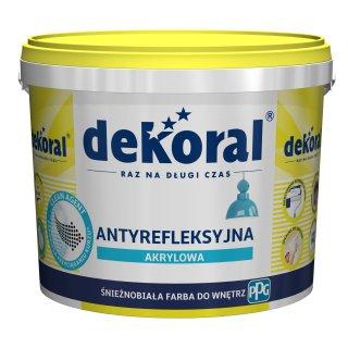 Antyrefleksyjna farba akrylowa Polinak Plus 5 L DEKORAL