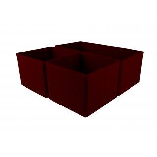 3 EL KPL ORGANIZERÓW DO SZUFLAD 28x14x11 i 2x14x14x11 RED 92941