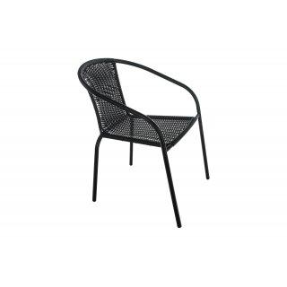 Krzesło ogrodowe Polirattan czarne TELEHIT