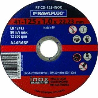 125X1,0X22,23 Mm Ściernica Korundowa tarcza 125 do cięcia metalu