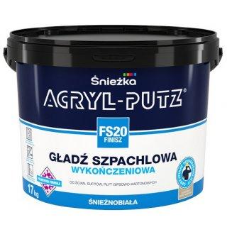 Gotowa masa szpachlowa Acryl Putz FS20 17 kg ŚNIEŻKA