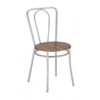 Krzesło kuchenne kolor orzech malia alu NOWY STYL