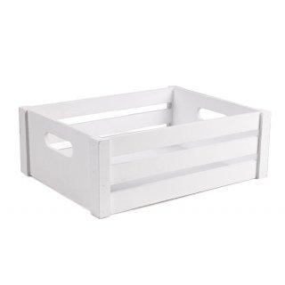 Skrzynka drewniana biała 36,5x27,5x13,5 cm TIN TOURS