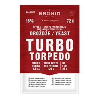 Drożdże Turbo II 120g BROWIN