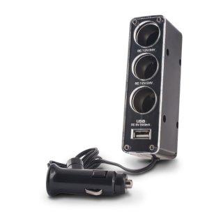 Rozdzielacz gniazda samochodowego 3w1 z gniazdem USB FOREVER