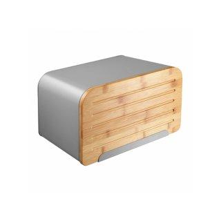 Chlebak Nordic z deską do krojenia 35 x 21,5 x 21,5 cm szary AMBITION