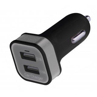Zasilacz ładowarka samochodowa 12/5V DC USB 2,1A EMOS