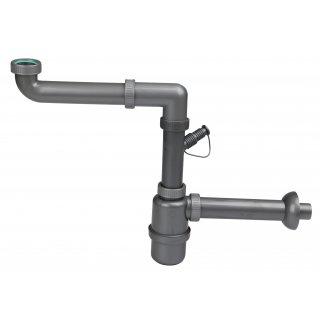 Półsyfon zlewu 1-komorowego z wyjściem pralka/zmywarka