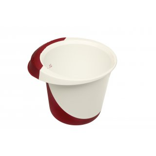 Miska do miksowania 1,5 l Deluxe biały/red OKT