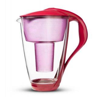Dzbanek filtrujący szklany Led malinowy DAFI