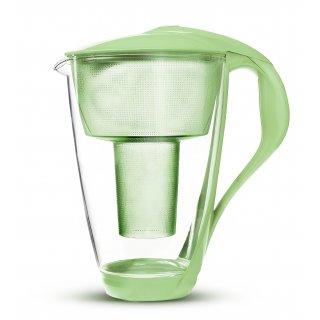 Dzbanek filtrujący szklany Led seledynowy DAFI