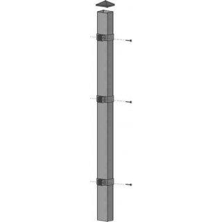 Słupek ogrodzeniowy 6x4 cm x 2,00 m ocynk POLBRAM