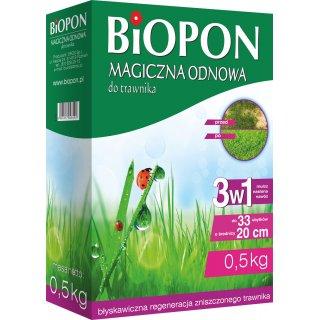 Preparat magiczna odnowa do trawnika 0,5kg BIOPON