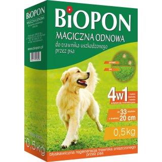 Praparat magiczna odnowa do trawnika uszkodzonego przez psa 0,5kg BIOPON