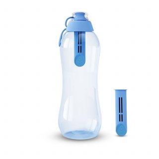 Butelka filtrująca 0,7 L niebiańska z 2 wkładami DAFI